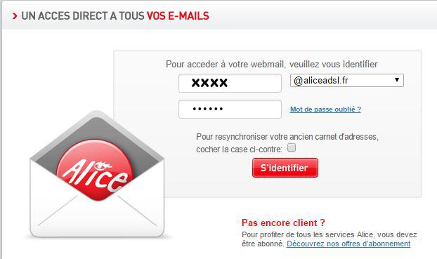 connexion webmail alice