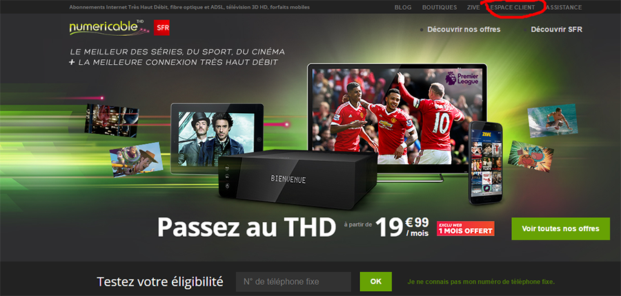 site offre numericable