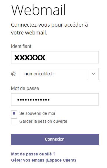 accès webmail sfr