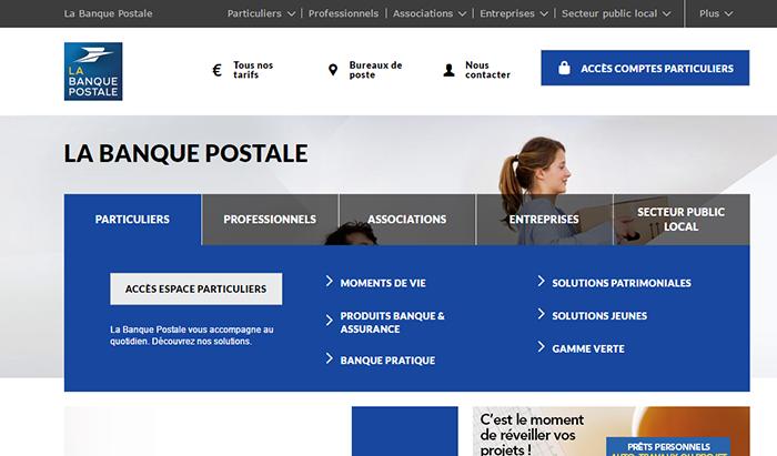 site banque postale