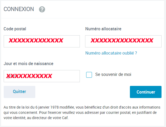 acces compte caf