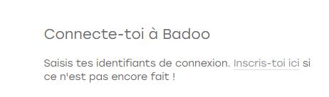 créer compte badoo