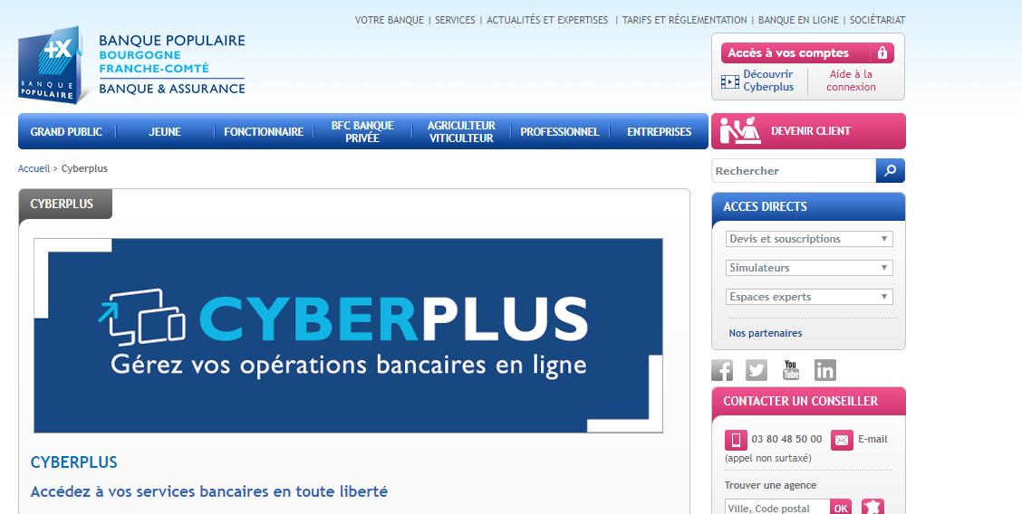accès compte cyberplus