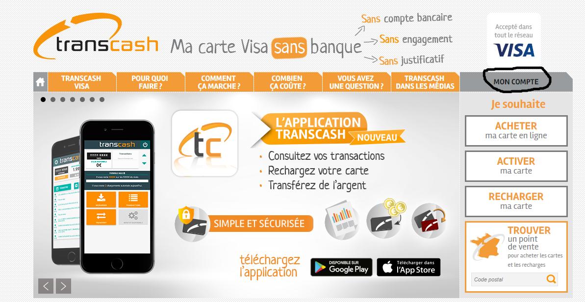 acces compte transcash