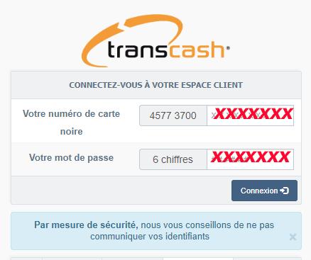 espace client transcash