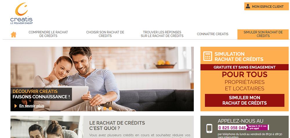 site rachat de credit creatis