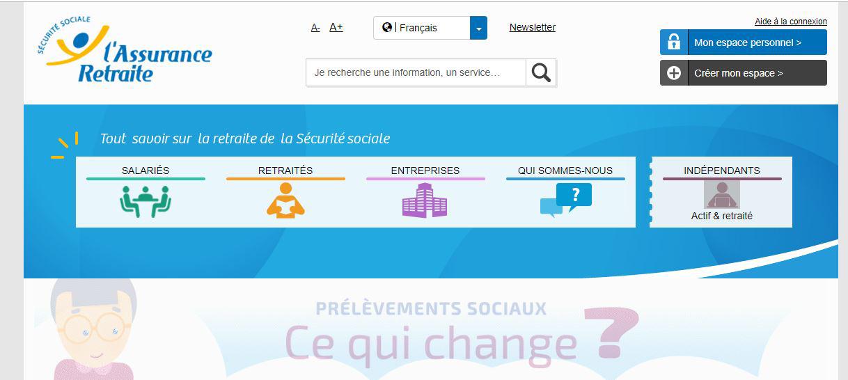 site l'assuranceretraite.fr