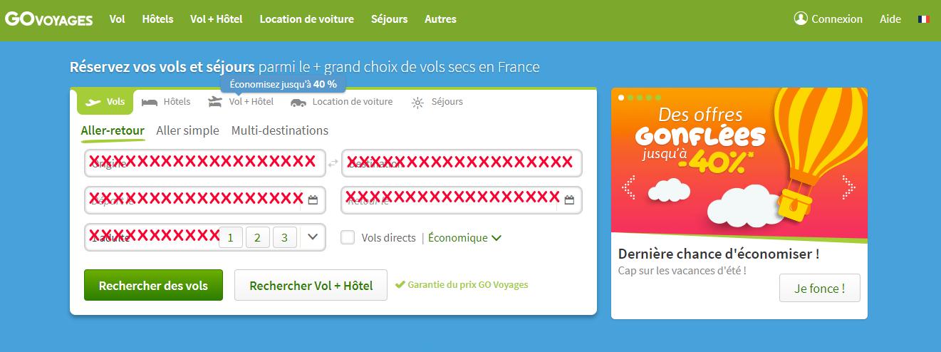 site français govoyages.com