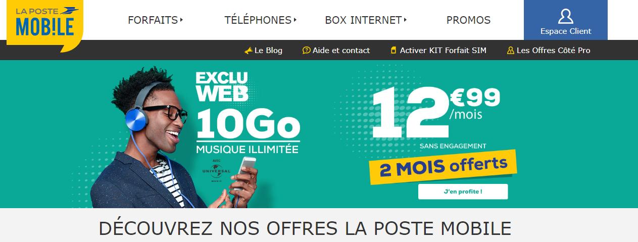 la poste mobile france