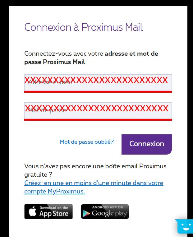 proximus webmail