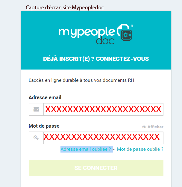 se connecter compte mypeopledoc