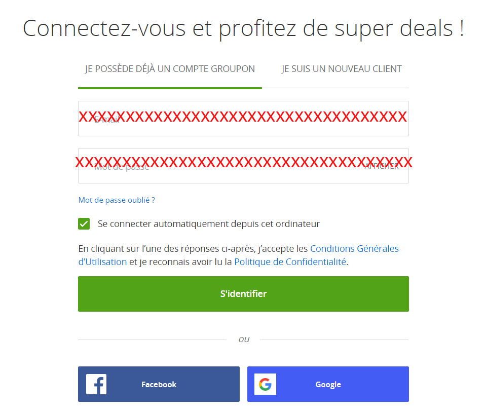 acceder compte groupon