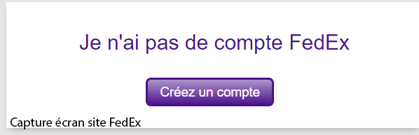 ouvrir compte fedex