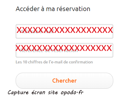 accéder a mes reservations
