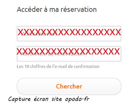 accéder a mes reservations