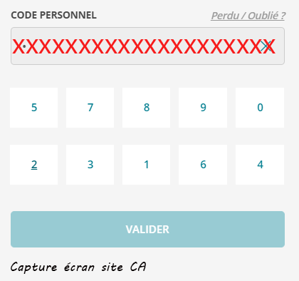 code personnel ca 31