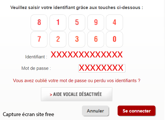 on compte free mobile