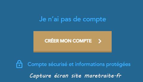 ouvrir compte maretraite.fr