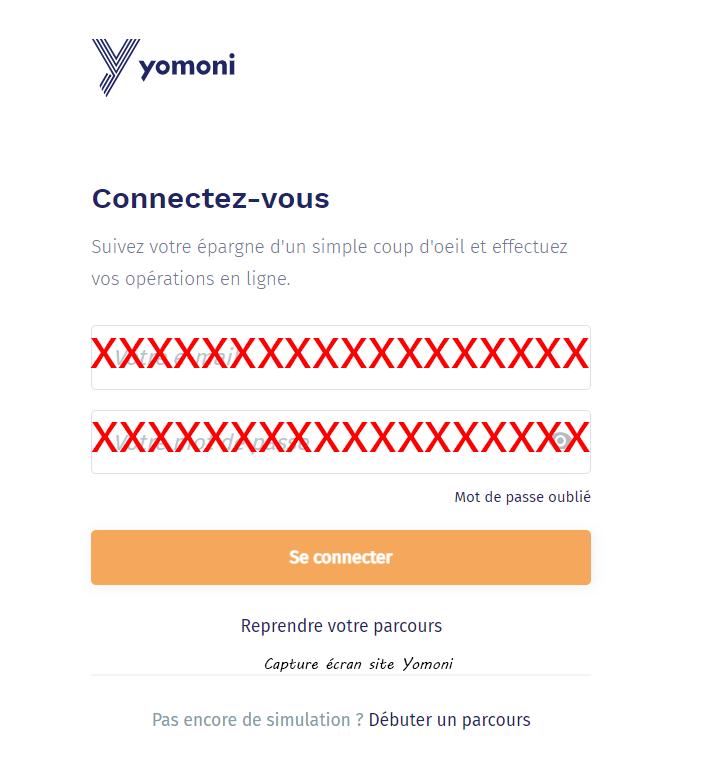 acces espace client Yomoni